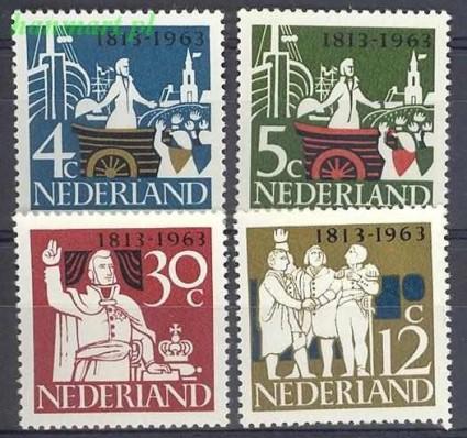 Holandia 1963 Mi 813-816 Czyste **