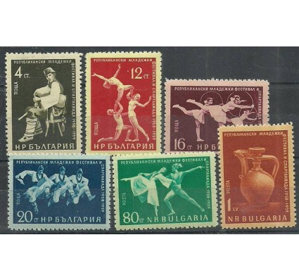 Znaczek Bułgaria 1959 Mi 1123-1128 Czyste **
