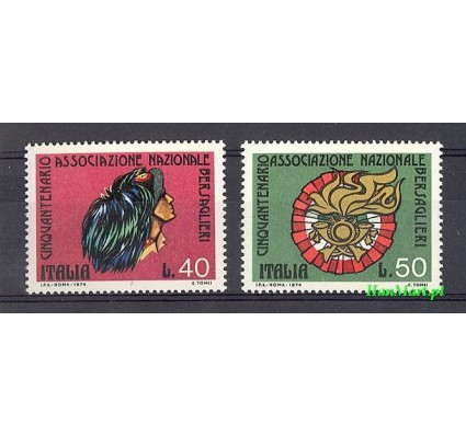 Znaczek Włochy 1974 Mi 1451-1452 Czyste **
