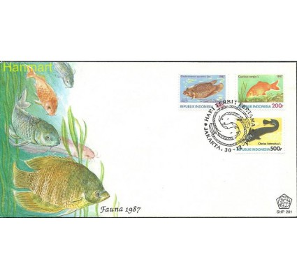 Znaczek Indonezja 1987 Mi 1242-1244 FDC