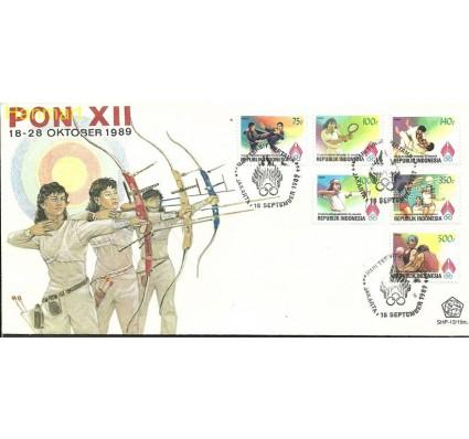 Znaczek Indonezja 1989 Mi 1313-1318 FDC