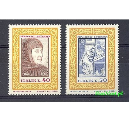 Włochy 1974 Mi 1455-1456 Czyste **