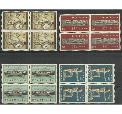 Znaczek Grecja 1962 Mi vie792-795 Czyste **