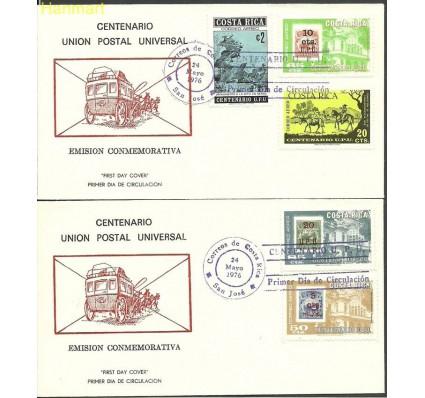 Znaczek Kostaryka 1976 Mi 942-946 FDC