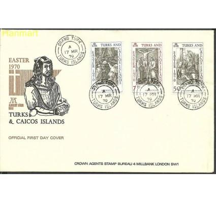 Znaczek Turks i Caicos 1970 Mi 244-246 FDC