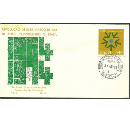 Znaczek Brazylia 1974 Mi 1429 FDC