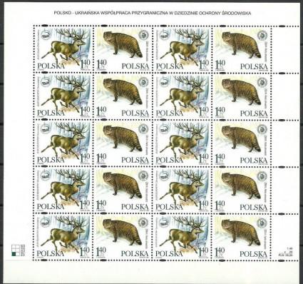Znaczek Polska 1999 Mi ark 3787-3788-a Fi ark 3639-3640I Czyste **