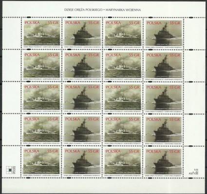 Znaczek Polska 1999 Mi ark 3742-3743 Fi ark 3594-3595 Czyste **