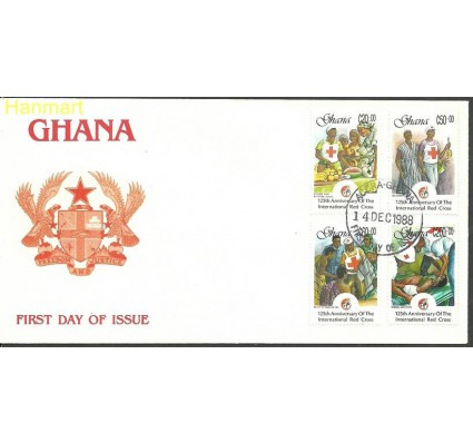 Znaczek Ghana 1988 Mi 1211-1214 FDC