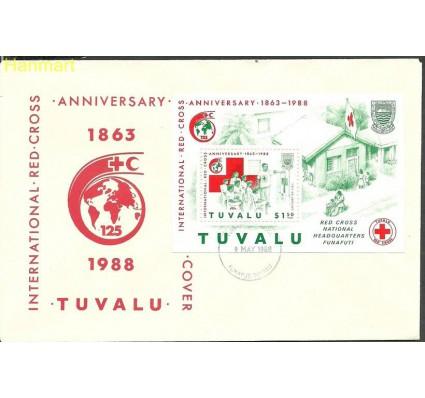 Znaczek Tuvalu 1988 Mi bl32 FDC