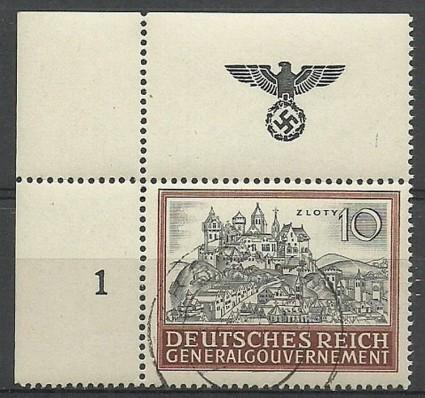 Znaczek Generalna Gubernia / GG 1943 Mi 116 Fi 116 Stemplowane