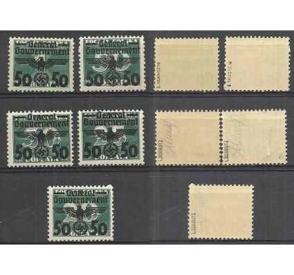 Znaczek Generalna Gubernia / GG 1940 Mi 35-39 Fi 35-39 Czyste **
