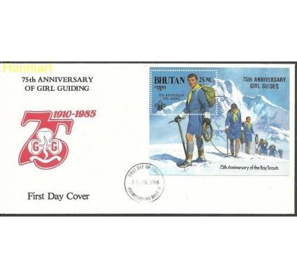 Znaczek Bhutan 1986 Mi bl 131 FDC