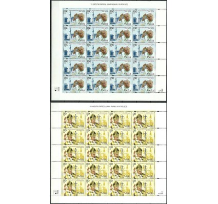 Znaczek Polska 2002 Mi ark 3984-3985 Fi ark 3834-3835 Czyste **