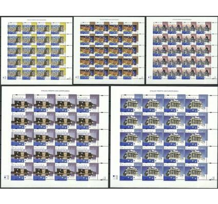 Znaczek Polska 2008 Mi ark 4393-4397 Fi ark 4243-4247 Czyste **