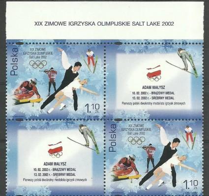 Znaczek Polska 2002 Mi 3952 Fi 3802 Czyste **