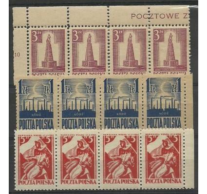 Znaczek Polska 1945 Mi 391-392+404 Fi 358-360 Czyste **