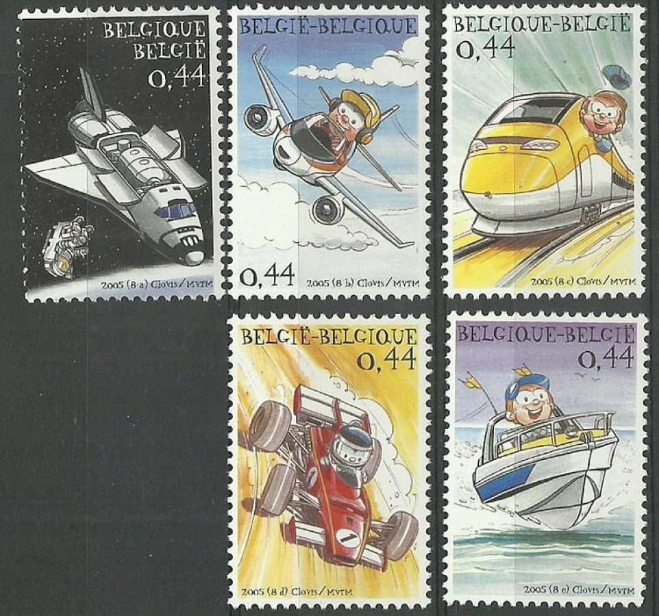Belgia 2005 Mi 3416-3420 Czyste **