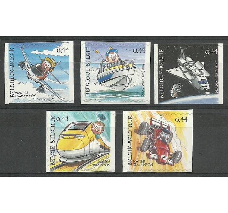 Belgia 2005 Mi 3421-3425 Czyste **