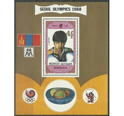 Znaczek Mongolia 1989 Mi bl 140 Czyste **