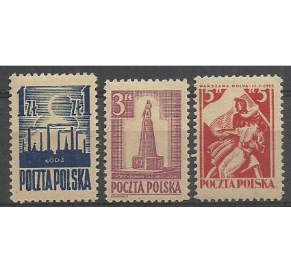 Znaczek Polska 1945 Mi 391-392+404 Fi 358-340 Czyste **