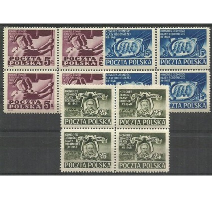 Znaczek Polska 1948 Mi 508-510 Fi 482-484 Czyste **