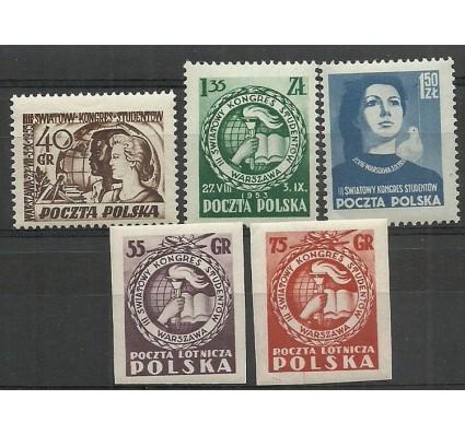Znaczek Polska 1953 Mi 811-815 Fi 673-675,676,677 Czyste **