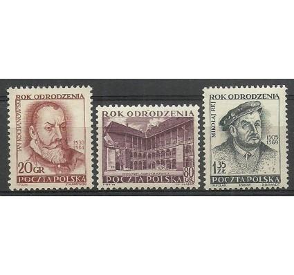 Znaczek Polska 1953 Mi 821-822C+823A Fi 683-685 Czyste **