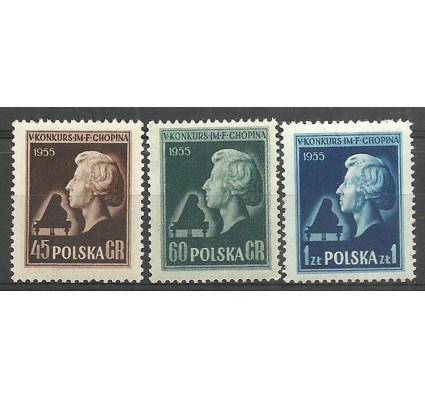 Znaczek Polska 1954 Mi 879A+880C+881A Fi 737-739 Czyste **