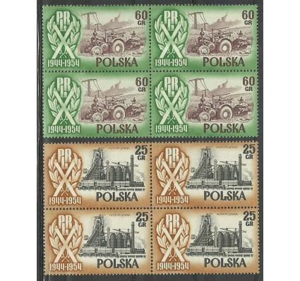 Znaczek Polska 1954 Mi 877-878 Fi 749I-752I Czyste **