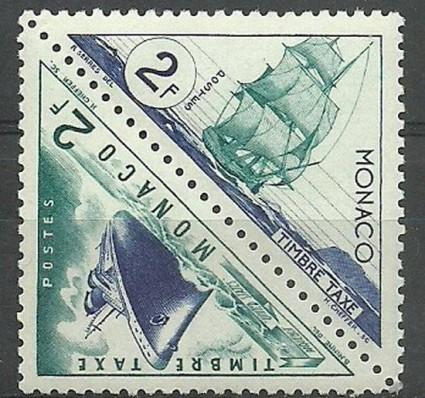 Znaczek Monako 1953 Mi por 42-43 Czyste **