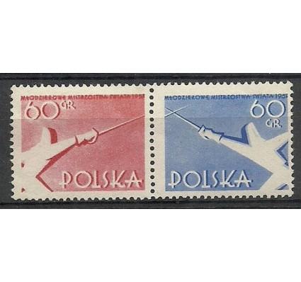 Znaczek Polska 1957 Mi 1006-1007A Fi 861-862 Czyste **