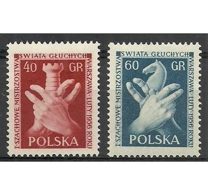Znaczek Polska 1956 Mi 954A-955C Fi 810-811 Czyste **