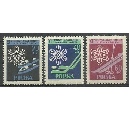 Znaczek Polska 1956 Mi 956A+957-958D Fi 812-814 Czyste **