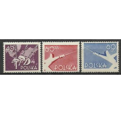 Znaczek Polska 1957 Mi 1005-1007 Fi 860-862 Czyste **
