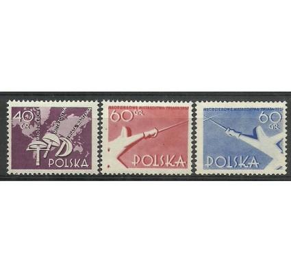 Znaczek Polska 1957 Mi 1005A+1006C+1007A Fi 860-862 Czyste **