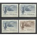 Szwecja 1958 Mi 2618-2621 Czyste **