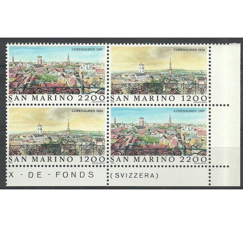 San Marino 1987 Mi 1375-1376 Czyste **