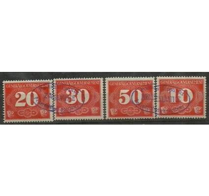 Znaczek Generalna Gubernia / GG 1940 Mi zus 1-4 Fi D1-4 Stemplowane