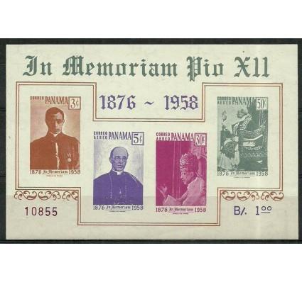 Znaczek Panama 1959 Mi bl 7 Z podlepką *