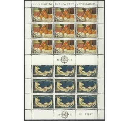 Znaczek Jugosławia 1975 Mi ark 1598-1599 Z podlepką *