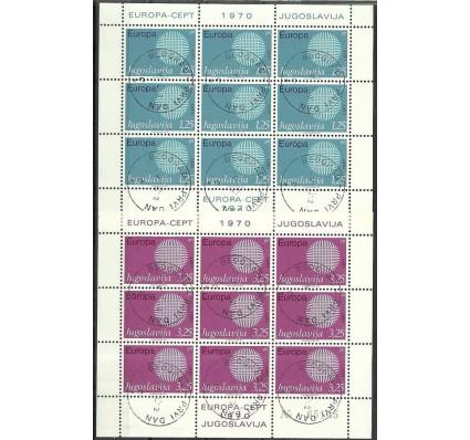 Znaczek Jugosławia 1970 Mi ark 1379-1380 Stemplowane