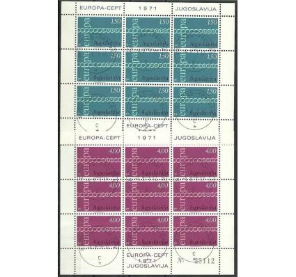 Znaczek Jugosławia 1971 Mi ark 1416-1417 Stemplowane