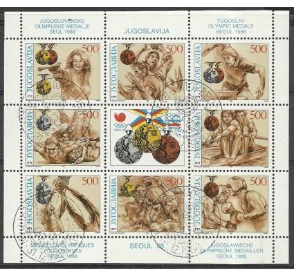 Znaczek Jugosławia 1988 Mi ark 2318-2325 Stemplowane