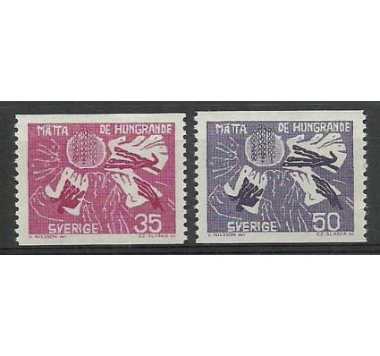 Znaczek Szwecja 1963 Mi 504-505A Czyste **
