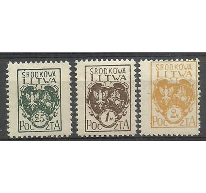 Znaczek Litwa Środkowa 1921 Mi 20-22 Fi 20-22B Czyste **