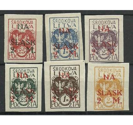 Znaczek Litwa Środkowa 1921 Mi 23-28B Fi 23-28A Czyste **