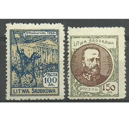 Znaczek Litwa Środkowa 1921 Mi 42-43 Fi 42-43B Czyste **