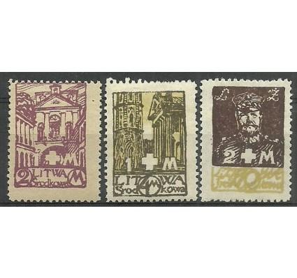 Znaczek Litwa Środkowa 1921 Mi 31-33 Fi 31-33B Z podlepką *