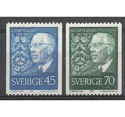 Znaczek Szwecja 1967 Mi 594-595C Czyste **